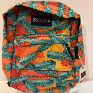New Jansport cactus backpack green orange & coral